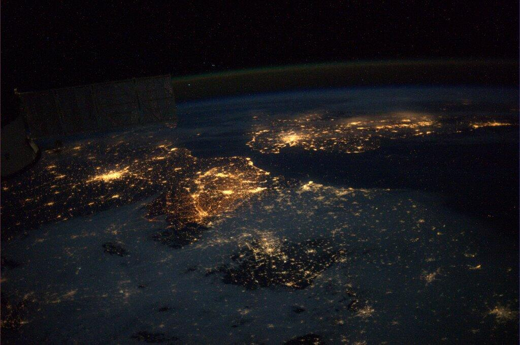 Europe from outer space by nasa astronaut Mike Hopkins