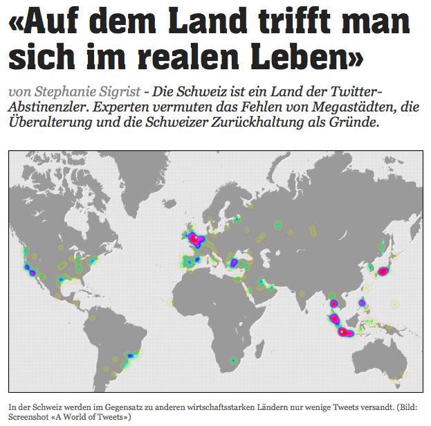 Schweiz die Twitter abstinenzler