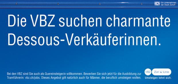 VBZ Zürich Kampagne 2013 - Eine Sex Kampagne?