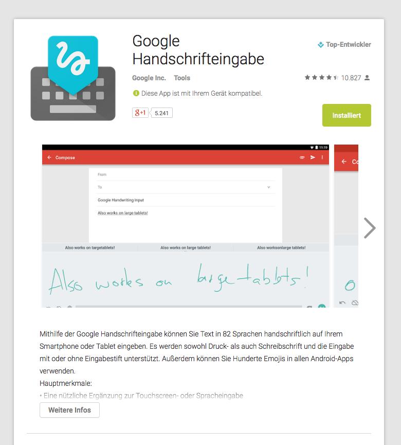google-handschrifteingabe